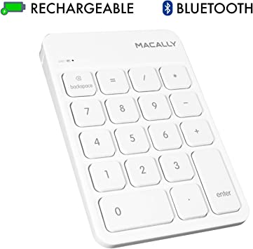Slim 18-Keys External Numeric Keypad Data Entry Digital Keyboard for Laptop PC,Desktop,Surface,Notebook Wireless Bluetooth Number Pad