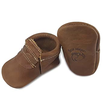 First Steps Boy Penny Loafers Leather