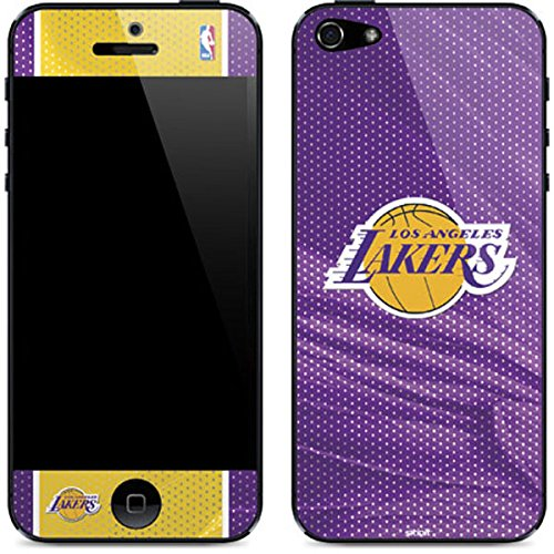 Skinit Los Angeles Lakers Home Jersey iPhone 5/5s/SE Skin - Officially Licensed NBA Phone Decal - Ultra Thin, Lightweight Vinyl Decal Protection ()