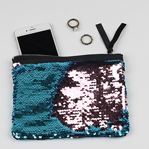Color Sequins Women F Purse Wallet Double Wallet Holder Voberry Card ZwETqw1