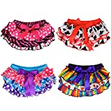 juDanzy Satin Baby Ruffle Bloomers Diaper Covers in a Variety of Colors & Sizes (6-24 Months, 4-Pack)
