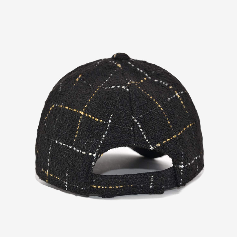 HEWPASKE Fashion Baseball Cap Women Plaid Black White Hats for Women Female Hip Hop Cap Casquette Bone