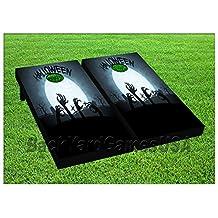 Cornhole Beanbag Toss Game W Bags Game Board Halloween Night Zombies Set 752