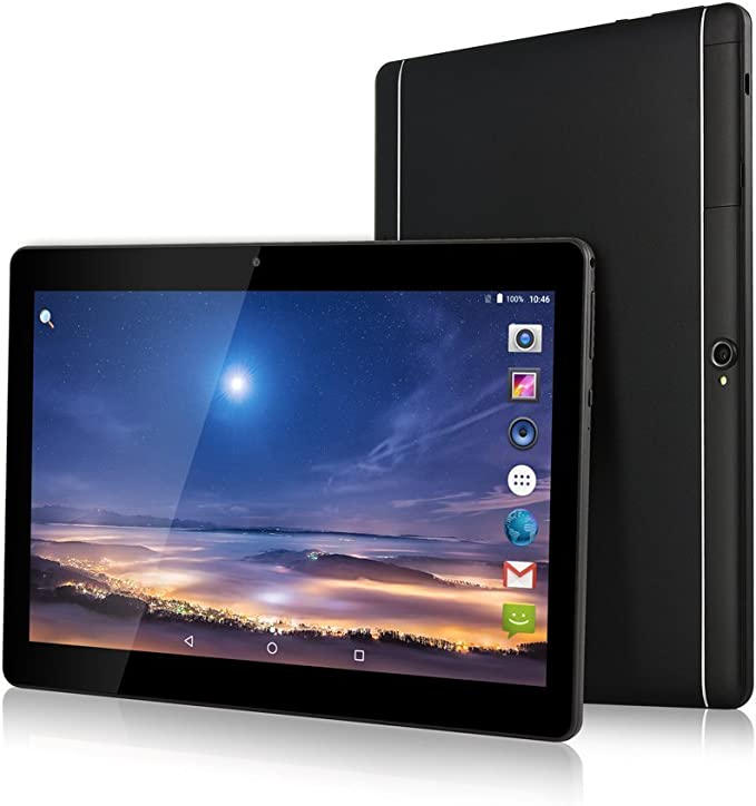 Amazon Com 10 1 Inch Android Tablet Pc 3g Unlocked Phablet 4gb Ram 64gb Storage With Dual Sim Card Slots And Cameras Tablet Pc With Wifi Bluetooth Gps Metallic Silver Metallic Black Computers