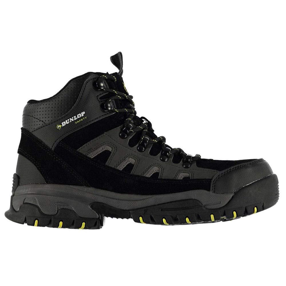 Dunlop Men's Safety Hiker Steel Toe Work Boots Black/Charcoal 10