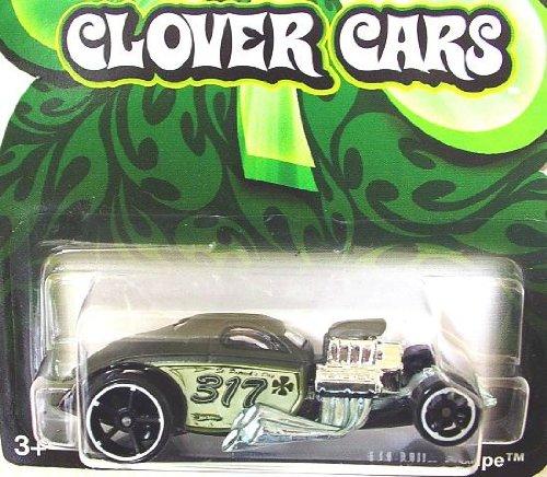 Hot Wheels 2009 Clover Cars 1/4 Mile Coupe Wal-mart Exclusive 1:64 Scale