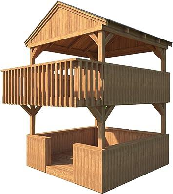 Playhouse Fort Planes DIY 2 Historia patio patio Juguetes para ...