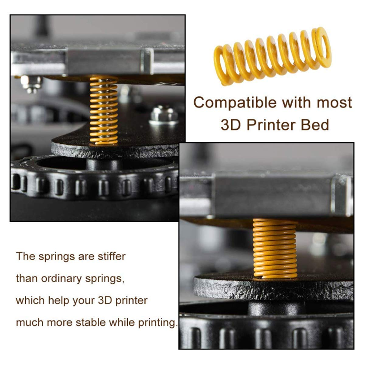 Heatbed Spring for Bottom Connect Leveling 16 Pcs Heated Bed Springs Die Springs Light Load Compression Spring for 3D Printer Creality CR-10 10S S4 Ender 3 Blue/&Yellow, OD 0.31inch, Length 0.78inch