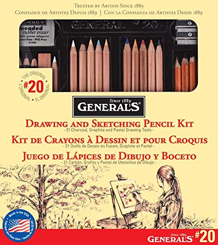 General Pencil 20GP General's Classic Sketching and Drawing Kit by General Pencil