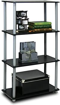 Furinno Turn-N-Tube 4-Tier Multipurpose Shelf Display Rack