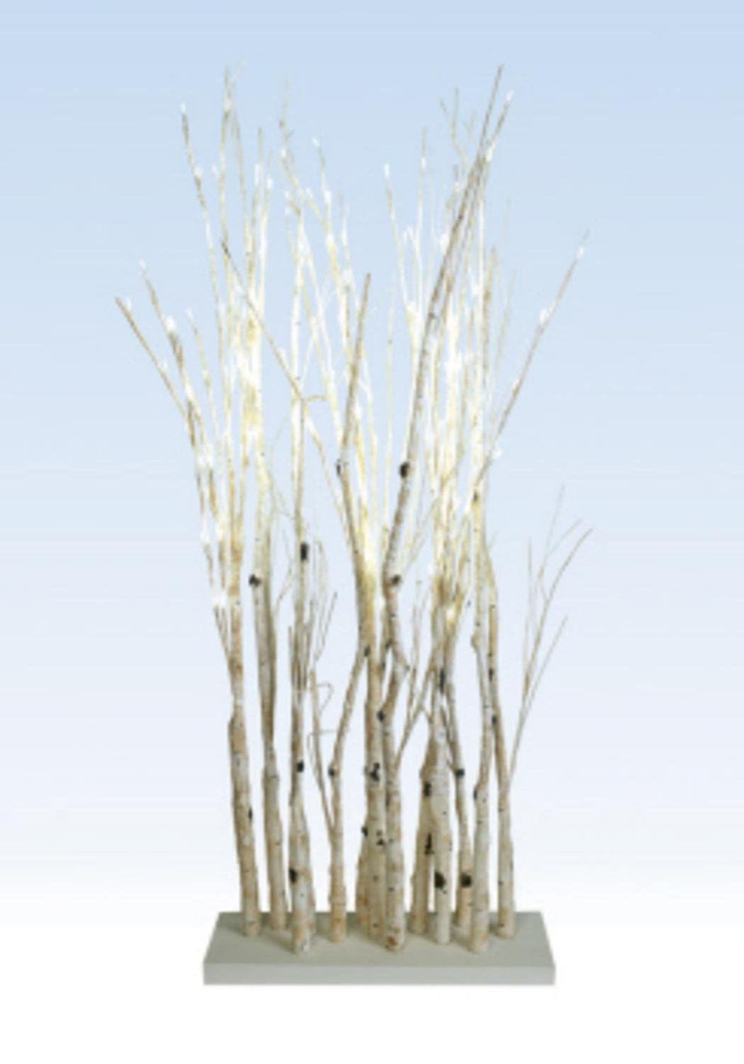 48'' LED Lighted Enchanted Garden Standing Birch Branches Decoration - Warm White