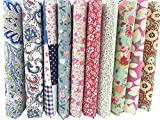 "Misscrafts 10pcs 18"" x 22"" Top Fat Quarters Cotton Craft Fabric Bundle Squares Patchwork Sewing Scrapbooking Artcraft"
