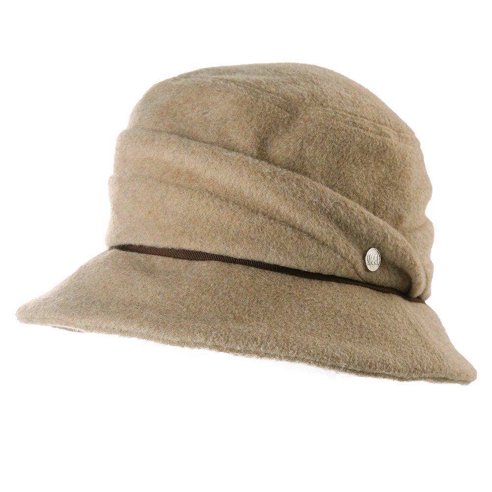 SIGGI Wool Felt Cloche Hats Women Winter Bucket Hat 1920s Derby Party Foldable CM89068-3
