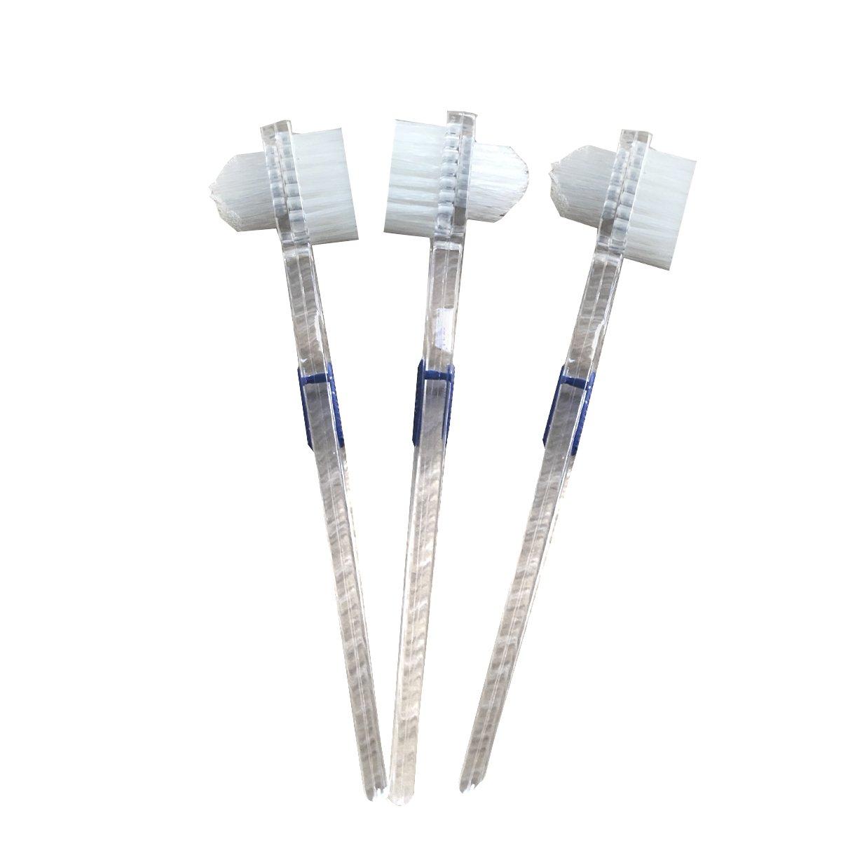 ROSENICE Denture Brush False Teeth Cleaning Brush Double-sided Toothbrush Tooth Cleaning Brush - 3 Pieces