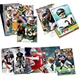 Topps, Upper deck, Donruss, Fleer, Score, Upperdeck 40 Football Hall-of-Fame & Superstar Cards Collection Including Dan Marino, Troy Aikman, Jim Thorpe, Joe Montana, John Elway and Barry Sanders
