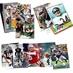 This incredible value includes 40 football Hall-of-Fame and superstar football cards. This collection contains the best players ever to play National Football League.   The collection is placed in a brand new plastic bag and perfect for giving The co...