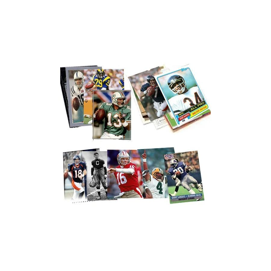 Topps, Upper deck, Donruss, Fleer, Score, Upperdeck 40 Football Hall of Fame & Superstar Cards Collection Including Dan Marino, Troy Aikman, Jim Thorpe, Joe Montana, John Elway and Barry Sanders