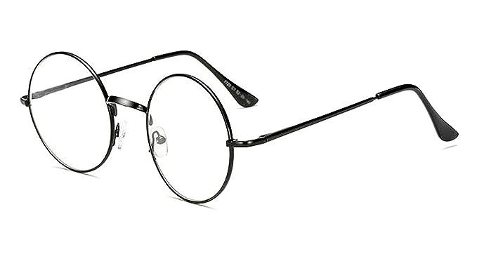 b2a504da0f0d4 Puissant Fashion Retro Round Circle Metal Frame Eyeglasses Clear Lens Eye  Glasses Unisex female