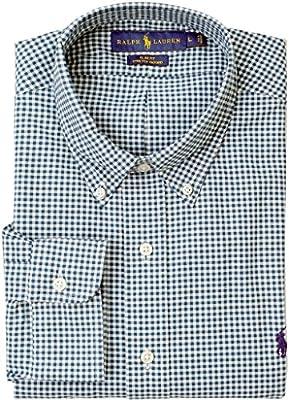 Ralph Lauren Mens Checkered Long Sleeves Button-Down Shirt