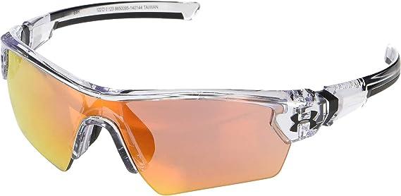UNDER ARMOUR Nitro L Sunglasses Satin Black//Orange Multi Baseball Youth//Kid