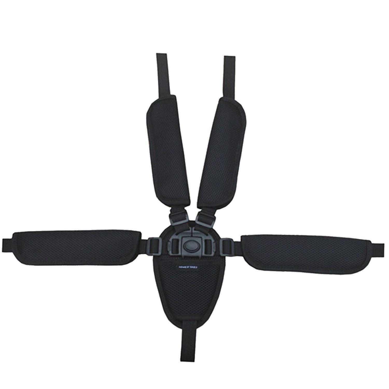 Universal Baby Kid 5 Point Safety Seat Harness Belt Strap for Stroller High Chair Pram Buggy Kid Pushchair Black Gosear