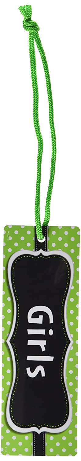 77240 Teacher Created Resources Lime Polka Dots Magnetic Girls Pass