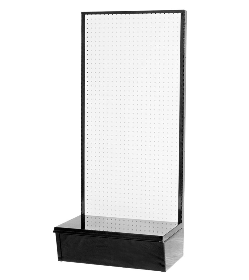Vulcan Industries, 1002454-00U0014, Economy Retail Gondola, Single Sided Pegboard, 24''W x 14''D x 54''H, Durable Black Powder Coated Steel, Accepts Shelves and Pegs