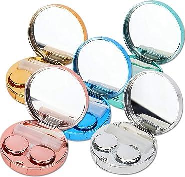 Estuche para lentes de contacto Mini contenedor de lentes con espejo Cuidado de los ojos portátil y liviano de primera calidad Contenedor para lentes de viaje y para el hogar(verde): Amazon.es: Belleza