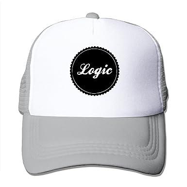 Fashion Strapback Hat Logic Logo Rapper Plain Adjustable Mesh Cap Ash