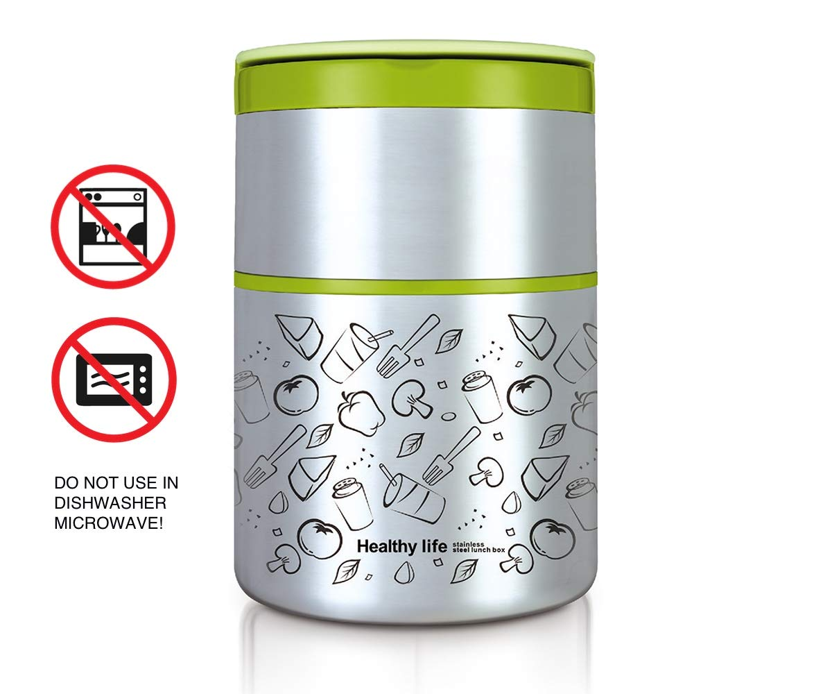 Amazon.com: Lille Home - Fiambrera térmica de acero ...