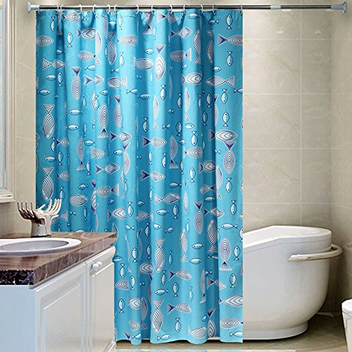 New Asoco Shower Curtain Of Coloured Donuts Pattern Bathroom Waterproof Fabric 78 Inches Long Home