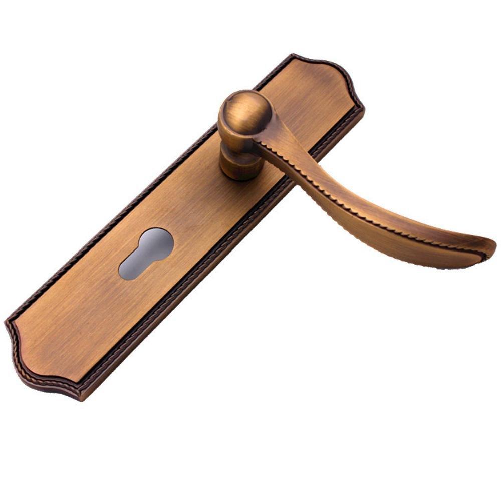 Jingzou Indoor bedroom door lock zinc alloy wood door handle lock hardware