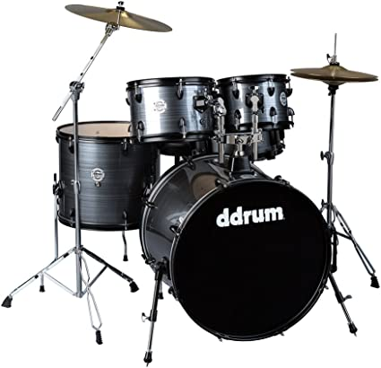 dDrum 7x10-Inch D2 Series 6-Ply Basswood Rack Tom Drum Silver Sparkle Finish