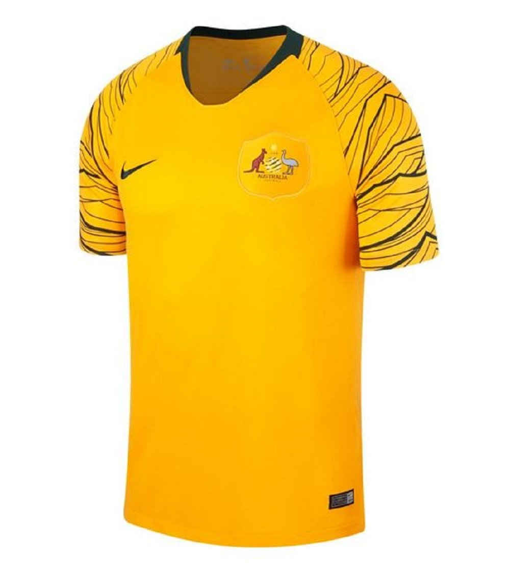 Nike 2018-2019 Australia Home Football Soccer T-Shirt Trikot