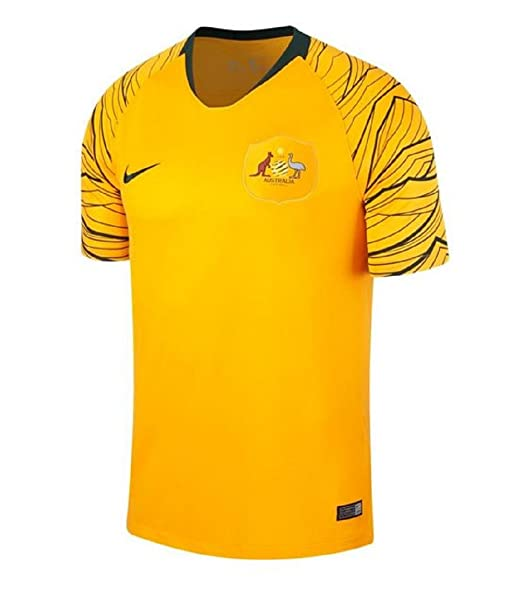 Nike 2018-2019 Australia Home Football Soccer T-Shirt Camiseta ...