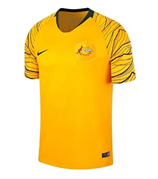 f703b1ba2 Nike 2018-2019 Australia Home Football Soccer T-Shirt  Amazon.co.uk ...