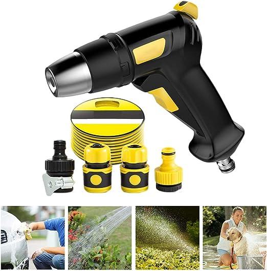 Pistola de Agua for Coche Herramientas de aspersión Manguera Ajustable Pistola de Boquilla Pistola de jardín Pistolas de presión de Agua Riego Boquillas (Size : 15m Suit): Amazon.es: Hogar