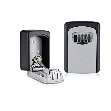8cef1af19967 Lospu HY Wall Mount Key Lock Box - Combination Key Safe Box - More  Convenient Key Storage Box with Set Your Own Combination Code Key Lock