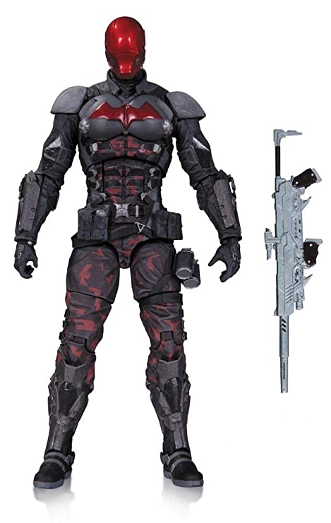 amazon com dc collectibles batman arkham knight red hood action
