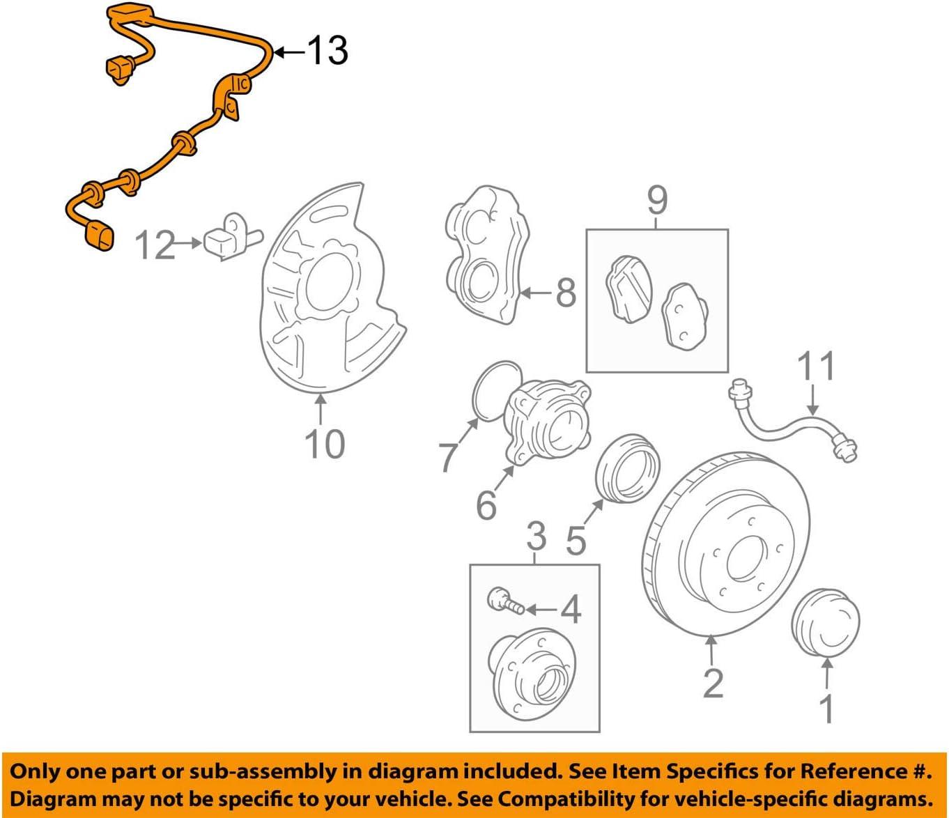 Toyota 89516-06090 Skid Control Sensor Wire