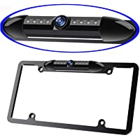 License Plate Frame Backup Camera Night Vision Car Rear View Camera with 8 Bright LEDs 170° Viewing Angle Waterproof…