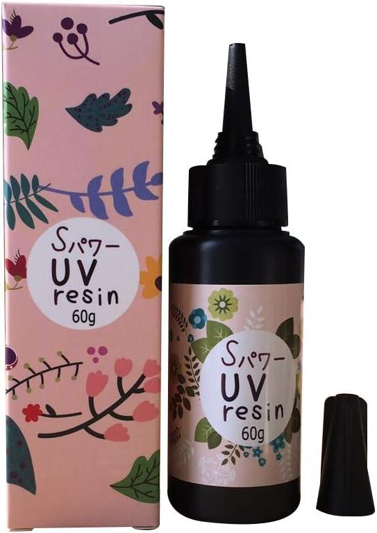 Resina UV 60g DIY Pegamento para la joyería de bricolaje Tipo duro curado ultravioleta Resina de la curación solar Luz del sol activado Artesanías Transparente claro (60g)
