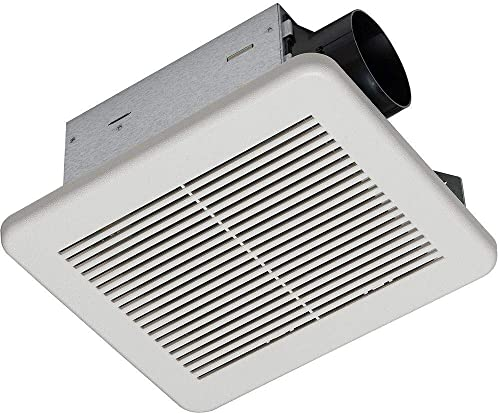 Homewerks Worldwide 7140-80 Bathroom Fan Ceiling Mount Exhaust Ventilation 1.5 Sones 80 CFM, White