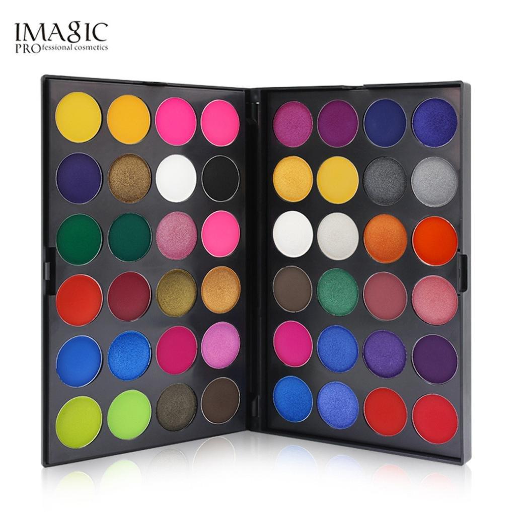 Women's Matte Eyeshadow Powder, Iuhan 48 Color Shimmer Glitter Eye Shadow Powder Matt Eyeshadow Cosmetic Makeup (Multicolor)