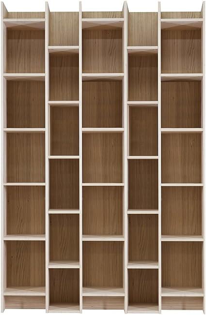 Estante Para Libros ampliar Big Ancho 130cm roble madera ...