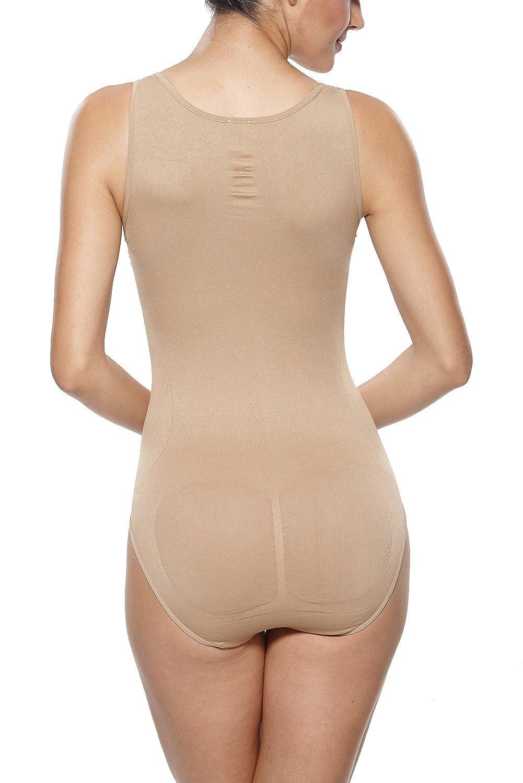 0fc70308f9933 KHAYA Women s Seamless All-in-One Body Shapewear Slimmer Tank Bodysuit at  Amazon Women s Clothing store