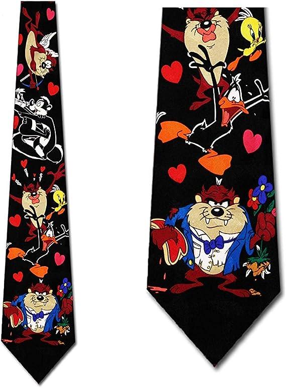 Cravatta da uomo di San Valentino Pretty Moonlight Cravatta di San Valentino Looney Tunes