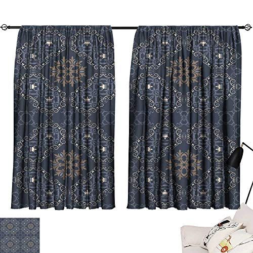 SINXY&CASE Long Curtains Background Retro Vintage Wallpaper 114 54