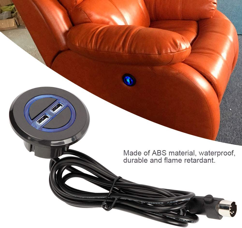 A sixx Hand Control Sofa Switch,Electric Recliner Chair Sofa Replacement Button Lift Chair Hand Control Handset with Dual USB for Recliner Lift Chair Electric Recliner Chair Controller