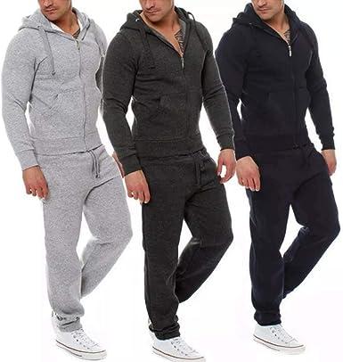 Elite Pleasure con tasche in pile pantaloni da jogging da uomo tinta unita